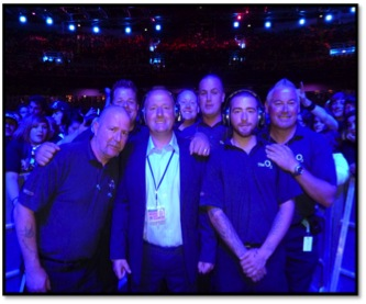 Sword Security O2 Team support ISPCC Charity Concert
